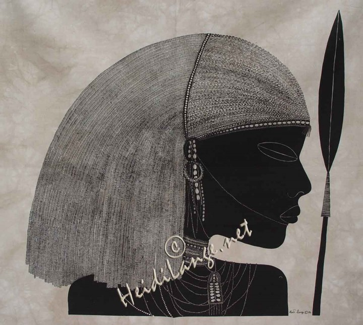 Heidi Lange Maasai with Spear #105 in Men - $199 99
